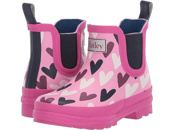 Hatley Kids Lovely Hearts Ankle Rain Bootie (Toddler/Little Kid)