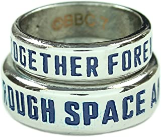 Doctor Who TARDIS His & Hers Ring Set (Size 7 and 10)