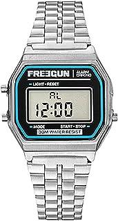 Freegun – Vintage Childrens Digital Quartz Watch with Stainless Steel Bracelet EE5218