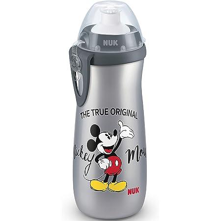 NUK Disney Sports Cup taza aprendizaje, a prueba de fugas y gran volumen, sin-BPA, 36+ meses, 450 ml, Mickey Mouse