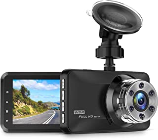 """CREUSA® Dash Cam, 1080P Full HD DVR Car Driving Recorder 3"""" LCD Screen 170° Wide Angle Dash Camera for Car with WDR, G-Sen..."""