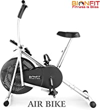 Buy BIONFIT ON01M Indoor Stationary Air Bike Exercise Cycle for Home Gym Cardio Full Body Weight Loss Workout - Pre Installation Support Online at Low Prices in India - Amazon.in