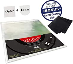 (100) Clear Vinyl Record Sleeves Combo (50 Inner, 50 Outer) 12