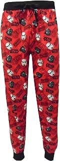 Mens Star Wars Original Film Logo Red Cuffed Lounge Pants Pyjama Bottoms Size S, M, L, XL
