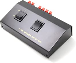 Ancable 2-Channel Stereo Speaker Selector Switcher Splitter Switch Box