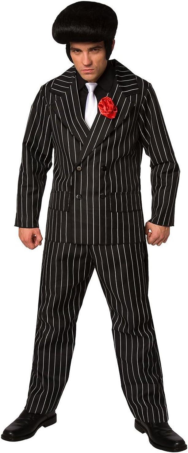 Vintage Men's Costumes – 1920s, 1930s, 1940s, 1950s, 1960s Mens Gangster Costume Mafia Pinstripe Suit for Men Quality Criminal  AT vintagedancer.com
