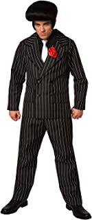 Mens Gangster Costume Mafia Pinstripe Suit for Men Quality Criminal