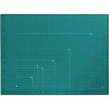 プラス カッターマット 両面 A2 450×600mm グリーン 48-586