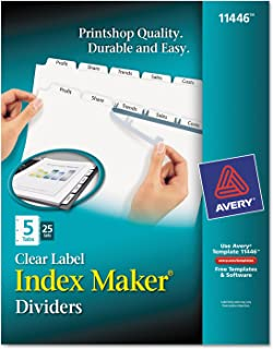 Avery Ave11446 Index Maker Clair Label intercalaire