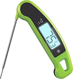 Lavatools Javelin PRO Duo Ambidextrous Backlit Professional Digital Instant Read Meat Thermometer for Kitchen, Food Cooking, Grill, BBQ, Smoker, Candy, Brewing, Coffee, and Oil Deep Frying (Wasabi)