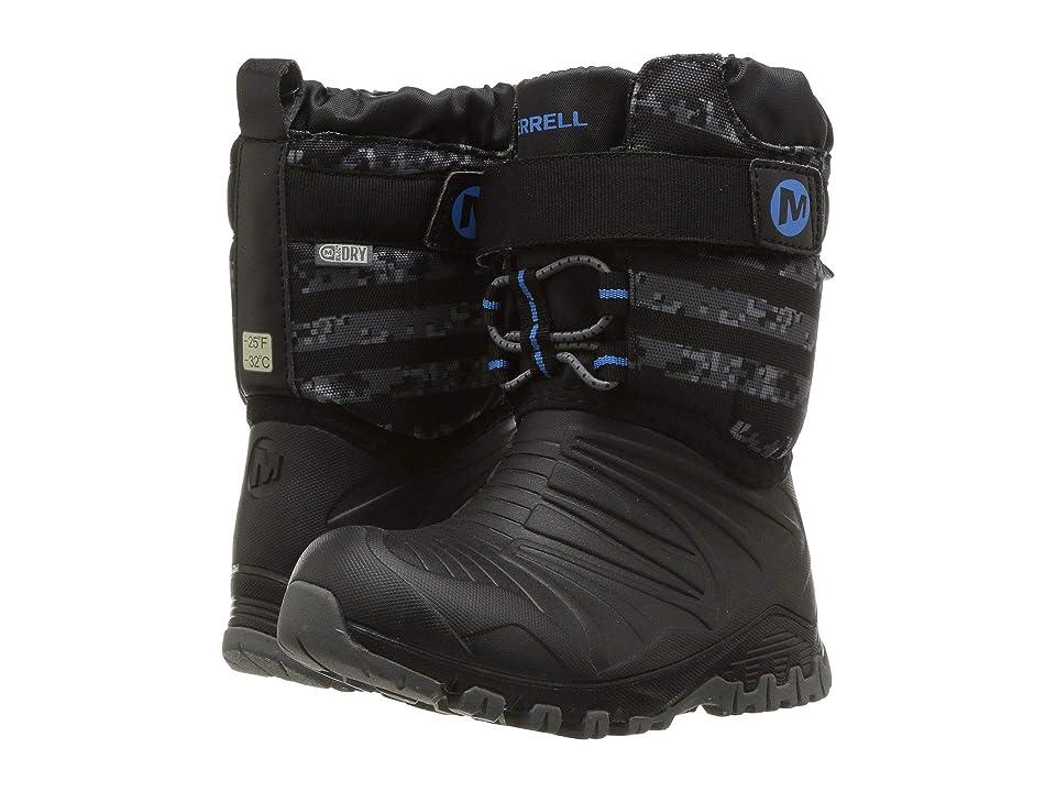 Merrell Kids Snow Quest Lite Waterproof (Toddler) (Black/Grey) Boys Shoes