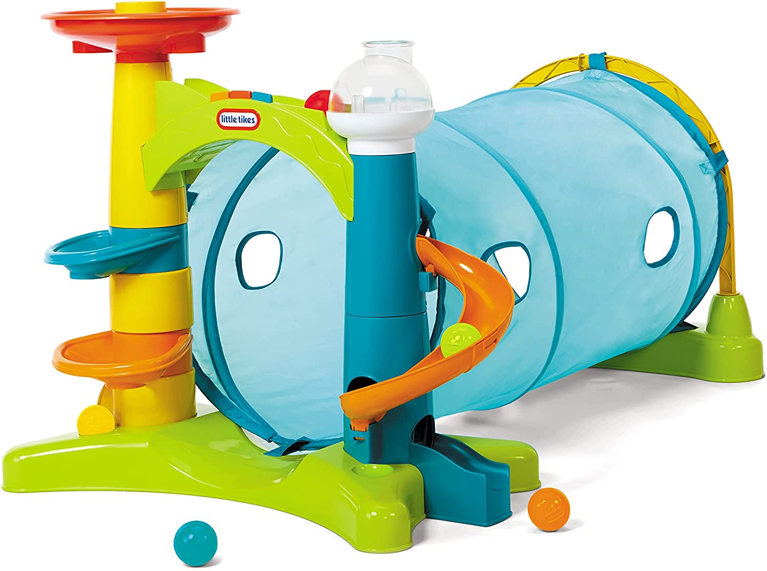 Little Tikes Learn & Play 2-in-1 Activity Tunnel with Ball Drop, Windows, Silly Sounds, and Music for Kids Ages 1 - 3