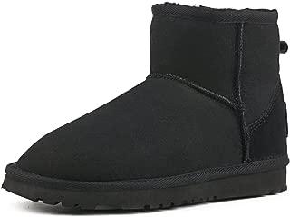 Women's Waterproof Snow Boot,Mid-Calf Sheepskin Winter Shoe 9125