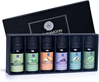 Lagunamoon Essential Oils Top 6 Gift Set  Pure Essential Oils for Diffuser, Humidifier,..