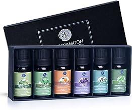 Lagunamoon Essential Oils Gift Set,Top 6 Aromatherapy Oils Orange Lavender Tea Tree Peppermint Eucalyptus Lemongrass