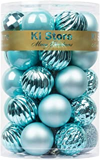 """Best KI Store 34ct Christmas Ball Ornaments Shatterproof Christmas Decorations Tree Balls for Holiday Wedding Party Decoration, Tree Ornaments Hooks Included 1.57"""" (40mm Baby Blue) Reviews"""