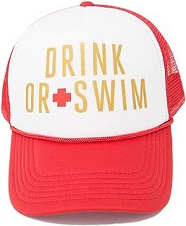 Baywatch Bachelorette Party Hats Wifeguard & Drink Swim Lifeguard Bachelorette Accessories