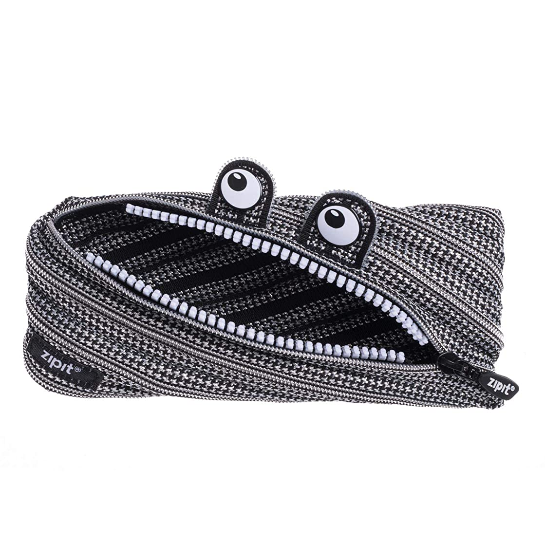 ZIPIT Monster Pencil Case Special Edition, Black & Silver