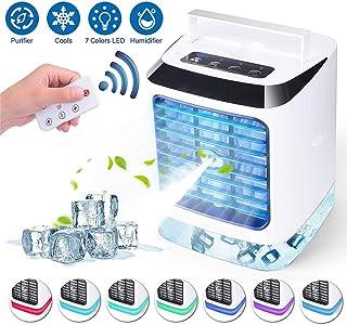 GJNWRQCY Mini Enfriador de Aire portátil USB, Mini Aire Acondicionado, Ventilador de Aire Acondicionado Personal 3 en 1, humidificador con USB