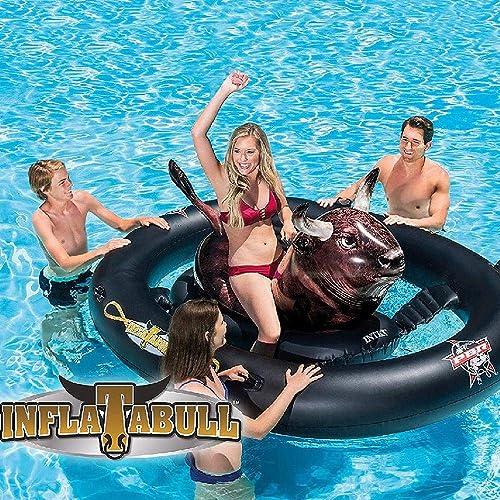 2019 Sommer Neue überGröße Stierk fer Montieren Schwimmende Reihe Aufblasbare Spielzeuge, Erwachsene Dicke Schwimmende Bett Aufblasbarer Schwimmring - 2.39  1.96  0.81m