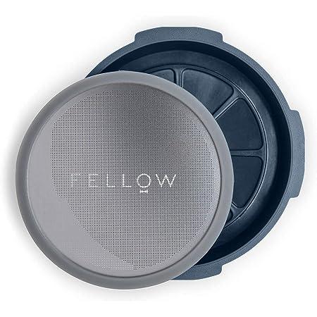 Fellow Filtre réutilisable et accessoire à pression pour cafetière aeropress style espresso, immersion parfaite et préparation à froid à la maison pierre bleue
