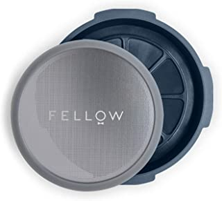 Fellow Prismo、エアロプレスコーヒーメーカー用圧力アクチュエーション アタッチメント 再利用可能なフィルター、エスプレッソスタイル、液だれしない浸漬、家庭での水出し