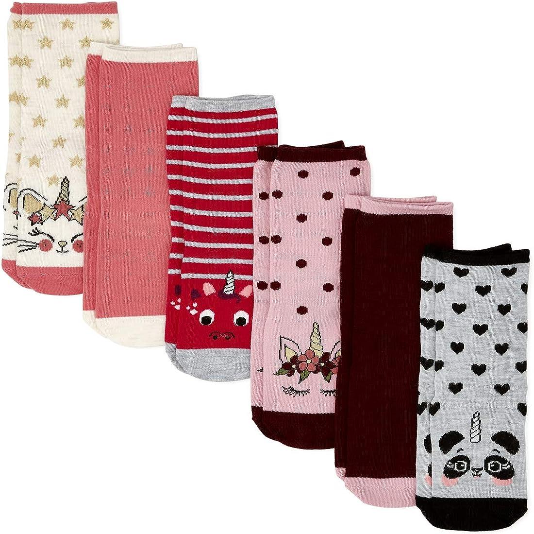 The Children's Place girls 6 Pack Crew Socks