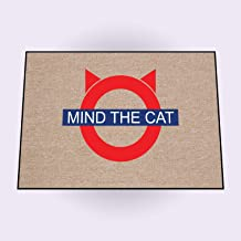 product image for HIGH COTTON Mind The Cat Doormat - Authentic Product