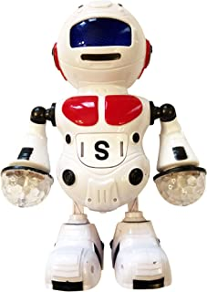 LilPals' Pioneer II Dancing Robot - Toy Plays Music, Walks, Dances and Emits Awesome Light & Sound - Battery Operated (Red)