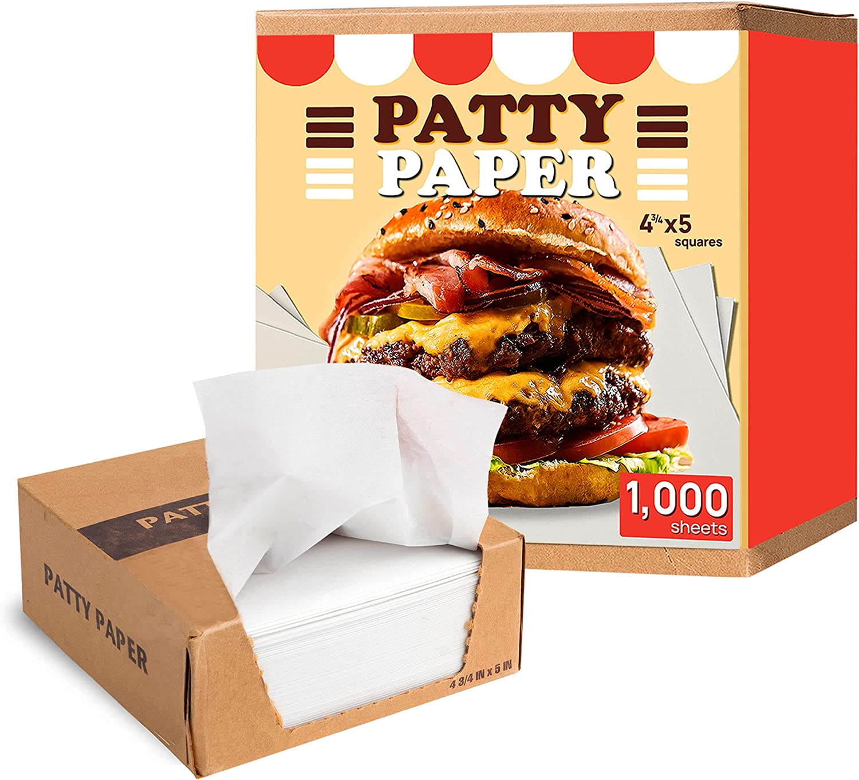 Restaurant-Grade Hamburger Patty Paper, 1000 4.75x5