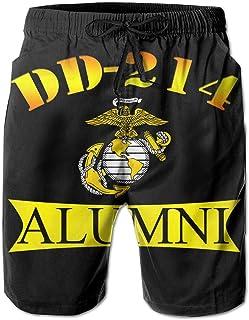 SUNSUNNY DD 214 Alumni Mens Boardshorts Swim Trunks Beach Athletic Shorts