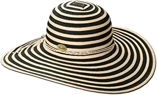 Panama Jack Women's Ribbon Toyo and Paper Braid Floppy Sun Hat with Sizing Tie 5