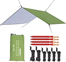 Esup 10 x 10 ft Hammock Rain Fly Waterproof Tent Tarp, 210T Ripstop Nylon Material, Camping, Hiking Essential Gear