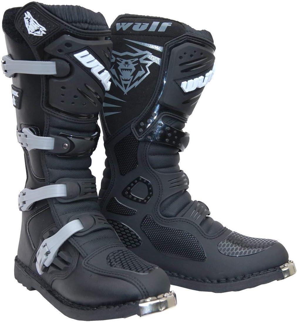 NEW 2018 WULFSPORT TRACKSTAR ADULT MX BOOTS Motorbike Wulf Enduro Dirt-Bike Rider Motocross Quad PIT ATV Sports Off Road Track Racing Boots