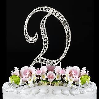 Vintage ~ Swarovski Crystal Wedding Cake Topper ~ Letter D
