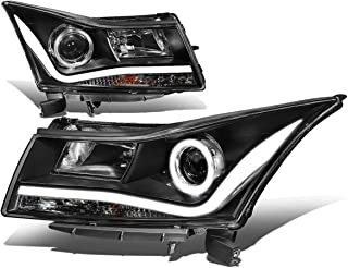 For 11-15 Chevy Cruze Pair Black Housing 3D LED DRL+Halo Ring Projector Front Driving Headlight/Lamps