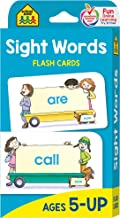 School Zone - Sight Words Flash Cards - Ages 5 and Up, Kindergarten to 1st Grade, Phonics, Beginning Reading, Sight Readin...