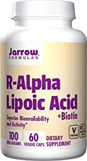 Jarrow Formulas R-Alpha Lipoic Acid, Superior Bioavailability*, 100 mg, 60 Caps