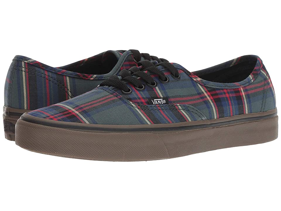 Vans Authentic ((Tartan Gum) Black/Classic Gum) Athletic Shoes
