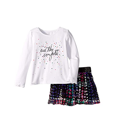 Kate Spade New York Kids Cue The Confetti Skirt Set (Toddler/Little Kids)