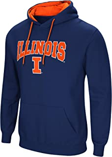 Colosseum NCAA Men's-Cold Streak-Dual Blend-Fleece Hoodie Pullover Sweatshirt with Tackle Twill Embroidered Team Name and Logo-Team Colors