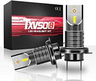 TXVSO8 100W 11200LM H7 LED Headlight Car Kit (A Pair) 6000K Cool White Lamps,  Fit for All H7 Car,  50W/Bulb