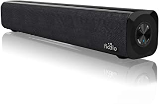 FIODIO Mini Sound Bar, USB Battery Powered Speakers for Desktop, Aux-in Wired and Wireless Bluetooth Stereo Projector Spea...