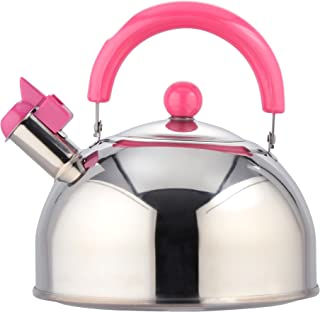 Waheifureizu Candy Le Stainless Steel Whistling Tea Kettle 2.6 Quarts (Pink)