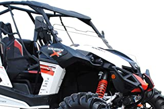 SuperATV Heavy Duty Scratch Resistant Clear Half Windshield for Can-Am Maverick (2013+) - Hard Coated for Extreme Durability - Installs in Minutes!