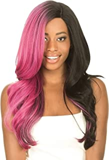 (1B) - NEW BORN FREE SYNTHETIC LACE FRONT WIG-MAGIC LACE DEEP PART MLD02 (1B)