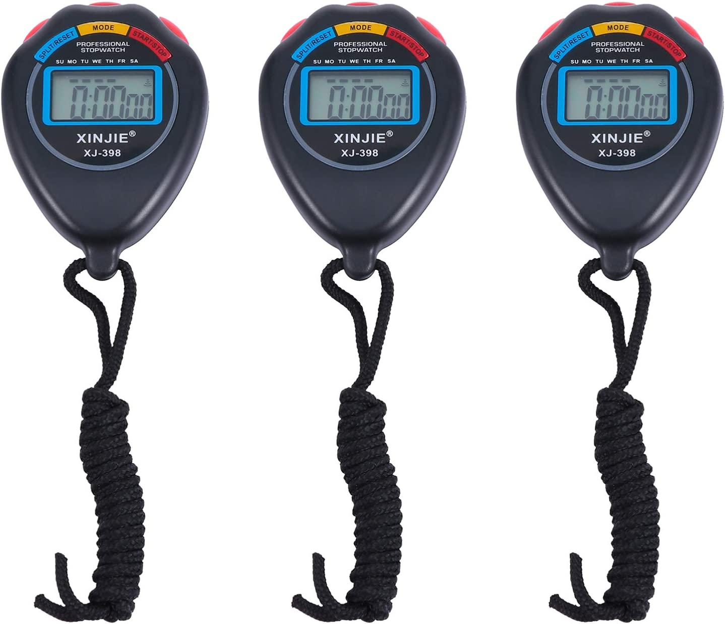 Garneck 3Pcs Digital Stopwatch Timer Sports Stopw All items free shipping Match Portable Max 44% OFF