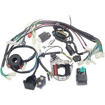 Ballylelly C/âblage /électrique CDI pour Stator Coil pour VTT 4 Temps KLX 50cc 70cc 110cc Quad Buggy 125cc Go Kart Pit Dirt Bikes