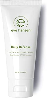Eve Hansen Face Cream with SPF 30 Broad Spectrum Sunscreen | Mattifying Hypoallergenic Daily Defense Moisturizer for Face and Neck | Scent and Fragrance Free 2 oz