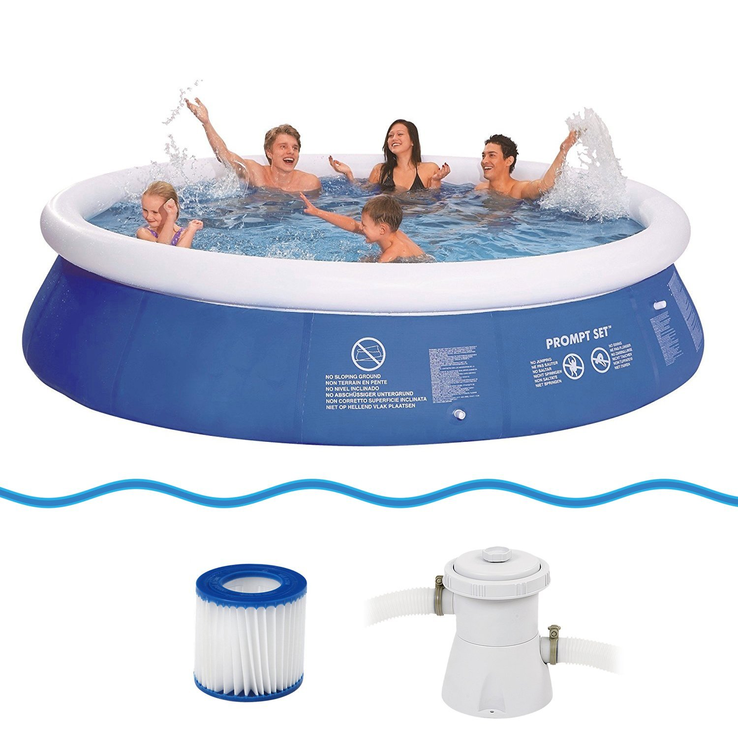 Jilong Prompt Set Pool Marin Blue 360 Set - Set de Piscina Quick ...